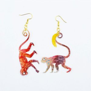 Boucles d'oreilles Monkeys Old World