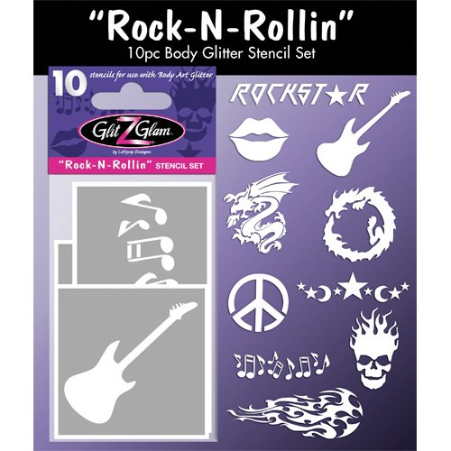 Tatouages temporaires pochoirs Rock N Rollin