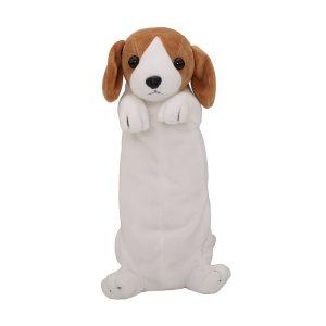trousse en peluche en forme de chien