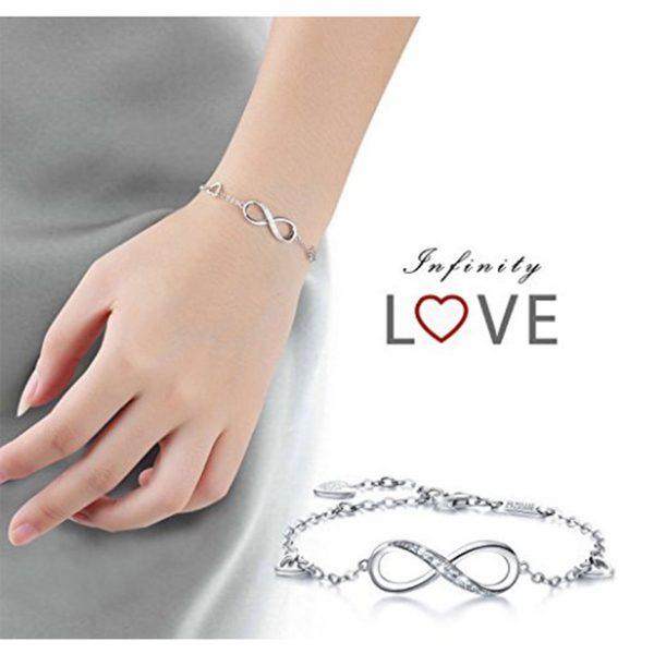 925-argent-fin-bracelet-infini