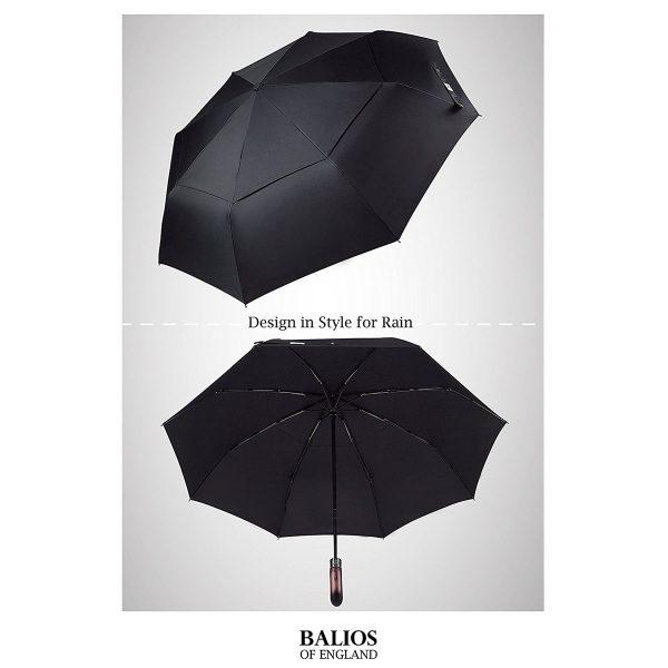 Parapluie poignée en bois faite main