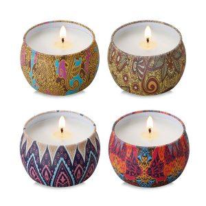 bougies parfumées 4 odeurs